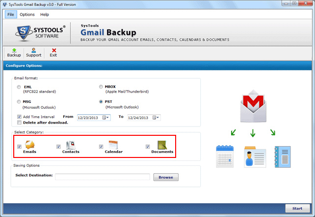 Smoothly Create Backup of Gmail Account with Backup software for Gmail